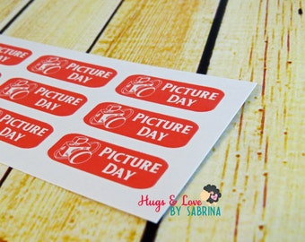 Picture Day Planner Sticker - Size Customize-able