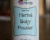 Herbal Baby Powder: Talc-Free & All-Natural with Calendula and Chamomile - Lavender Scent