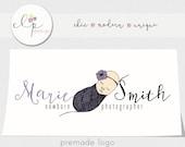 Retire This Logo - Photography Logo with Watermark - Business Logo -Branding - Whimsical Newborn Baby - Newborn Photography