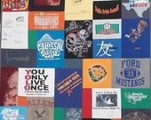 Mosaic T shirt Quilt · Mosaic T-Shirt Quilt · Mosiac Tee Shirt Blanket· Mosaic Memory Quilt · Memory Clothing Quilt · Upcycled T Shirt Quilt
