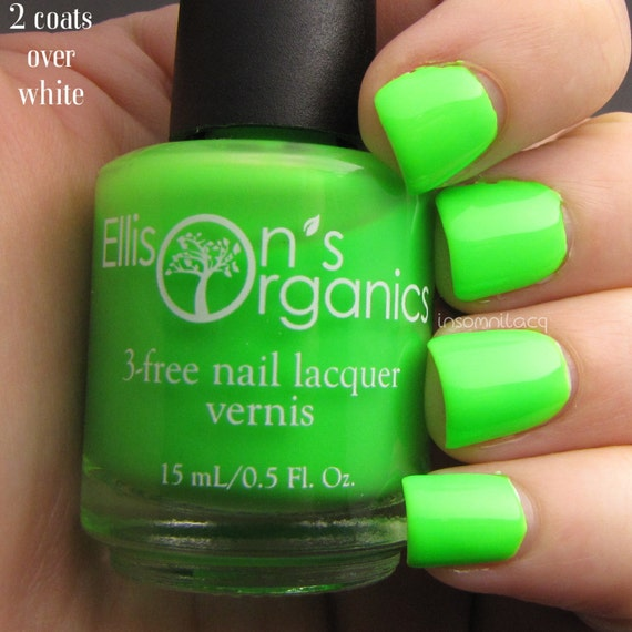 MATTE Neon Green Nail Polish - Glow in the Dark Nail ...