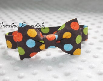 Baby Bow Tie with Velcro Strap, Smash Cake Outfit, Photo Prop