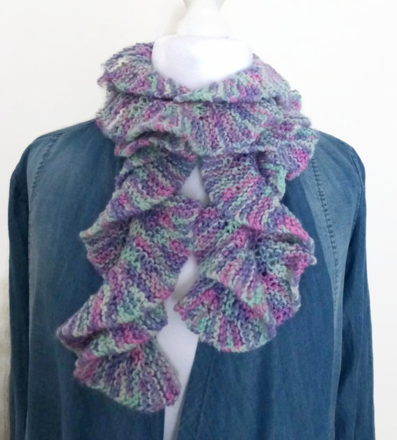 Knitting Pattern For Waterfall Scarf : Knitting scarf pastel multicolour waterfall by HanoverMerryMakers