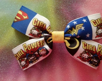 Girls Are Super hair bow