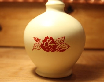 Vintage Plastic Sprinkler Rose in Bud Vase, item #110