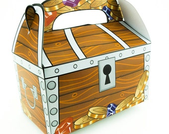 Large Treasure Chest Pirate Loot Treat Favor Boxes Pirate Mermaid Theme Party Decorations IPYW025