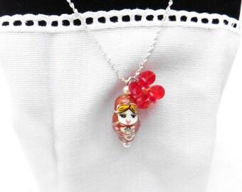 Russian Doll Necklace / Matryoshka Necklace / 4 Styles / Listing for 1 / Babushka / women's jewelry / teens / girls / Russia / jewelry