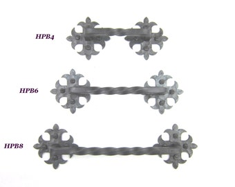 HPB series rustic Spanish style club twisted wrought iron cabinet pull