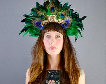Lagoon - Carnival Headband - Feather Headpiece