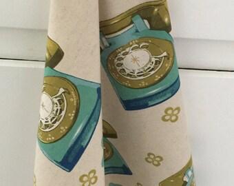 Rotary Telephone Tea Towel