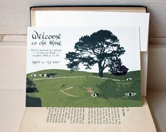 Hobbit inspired party invitation