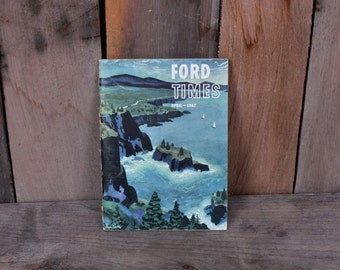 1947 April Ford Car Times Booklet Car Dealer Promo Brochure Pamphlet