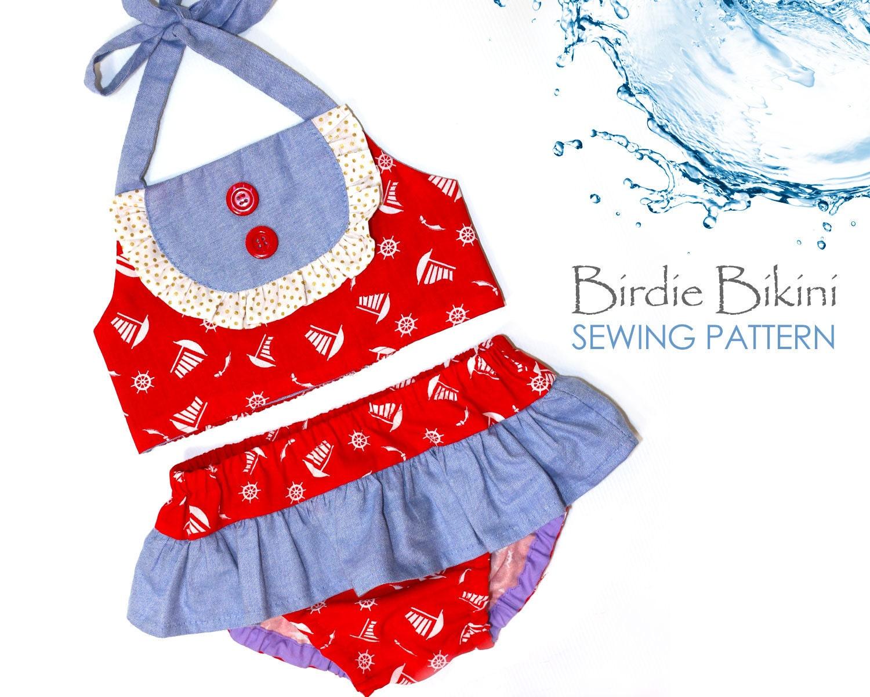 Girls Sewing Pattern Swimsuit Sewing Pattern Pdf Romper