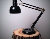 Vintage Black Articulating Adjustable Desk Lamp - Flex Arm Style Drafting Lamp