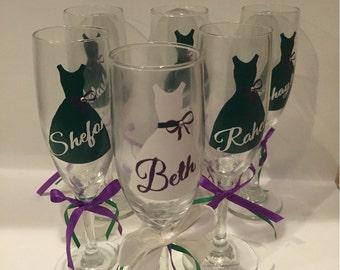 Personalized wedding flute set (6)