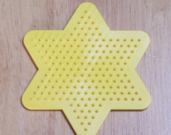 Perler Bead Yellow Star Pegboard2, Ironing Paper, Instructions, Craft Supply, Church Craft Supply, Kids Crafts