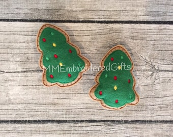 Felt Christmas Tree Cookies (set of 4)