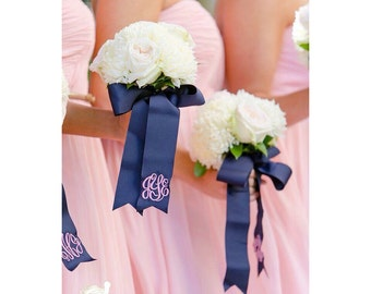 "Monogrammed Ribbon Bouquets 1.5"" Grossgrain"