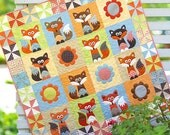 Fox, Baby Quilt, Woodland Nursery,Boy Crib Bedding, Girl Crib Bedding, Nursery Bedding, Custom Crib Quilt, Baby Blanket Baby Bedding Blanket