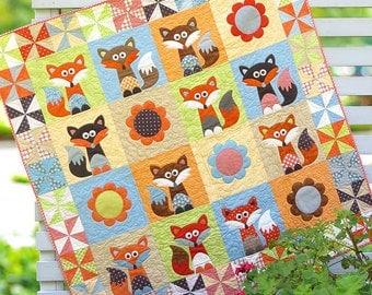 Fox, Baby Quilt, Woodland Nursery,Boy Crib Bedding, Girl Crib Bedding, Nursery Bedding, Custom Crib Quilt, Baby Blanket Baby Bedding Blanket