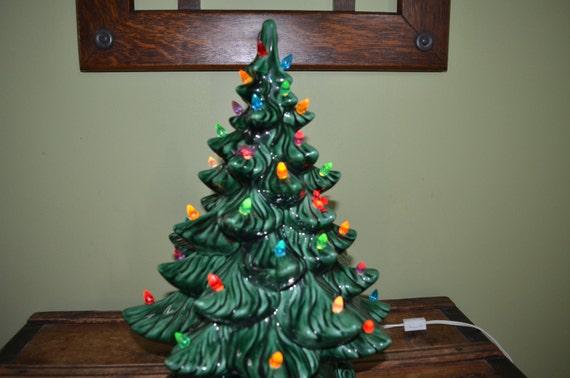 Large Vintage Ceramic Christmas Tree