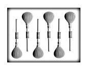 Hot Air Sucker Lollipop Hardcandy Mold - 2 Inch - Baking Candy Making Crafts Packaging Party Supplies