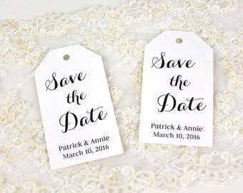 Save the Date Tags - Invitation tags - Wedding Invitation tags - Custom Tags - Personalized Tags - LARGE