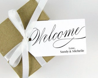 Welcome Tag - Wedding Welcome Tags - Welcome Gifts - Event Gifts - Welcome Tags - Custom Tags - Personalized Tags - SMALL