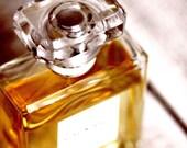 Eau de Parfum - Original Fine Art Photograph (bathroom decor, vintage, feminine, vanity, perfume, Chanel, bottle)