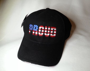 Patriotic PROUD Embroidered Hat