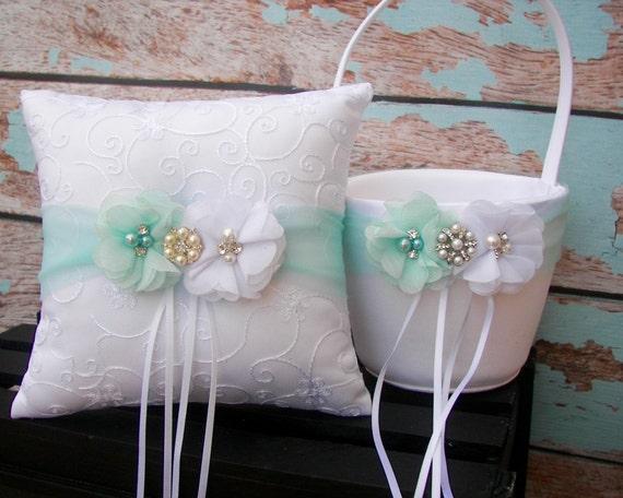 your colors flower girl basket and ring bearer pillow set. Black Bedroom Furniture Sets. Home Design Ideas