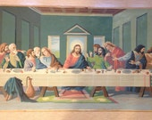 Vintage 1950s Last Supper paint by number painting