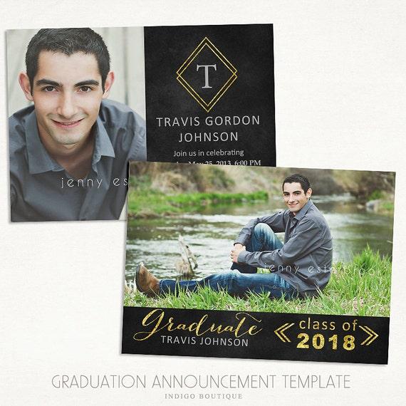 Senior Graduation Announcement Template For Photographers 017