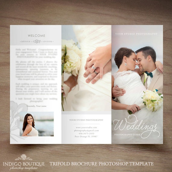Wedding Photography Trifold Brochure Template Client Welcome - Wedding photography brochure template