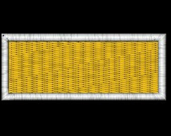 1 inch Solid Rectangle with Border Embroidery Design in 4 sizes