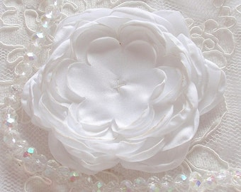 Larger Singed Flower Singed Rose Satin Flower Satin Rose (3-1/4 inches) MY-354-10 Ready To Ship