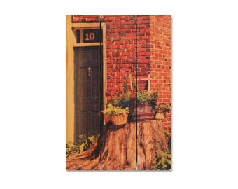 16x24 Blue Door on Cedar, Hang Inside or Outside, Wooden Wall Art, Home Decor (NT1624)