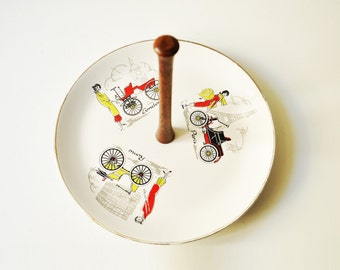 Midcentury One Tier Serving Tray - Cake Stand - Eames Era