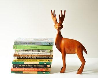 Midcentury Wooden Deer - Danish Modern Figurine