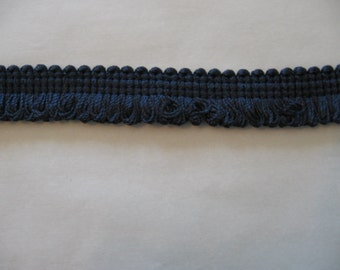 "MIDNIGHT BLUE Loop Fringe Trim - 11/16"" Wide - More Available"