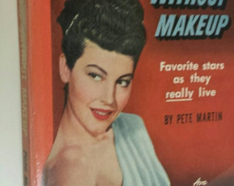 Vintage 1950's Ava Gardner Hollywood Without Makeup Bantam Book Paperback Book