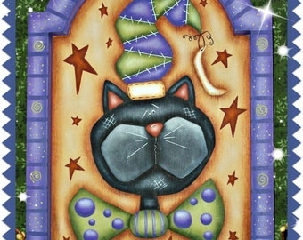 CC164 Halloween Kitty Painting E Pattern by Cyndi Combs
