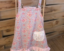 APRON, 50's style, kitchen apron, craft apron, gift