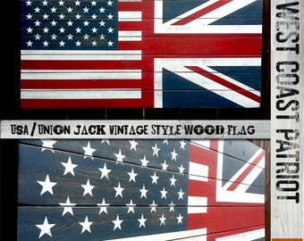 Half American Half Union Jack Flag