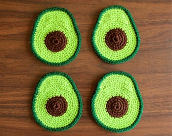 Handmade Avocado Coaster Set!