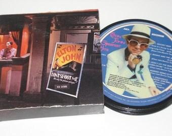 ELTON JOHN Coasters,  vinyl record coaster set