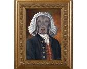 Dog Magnet, William Pettybone, Weimeraner, Refrigerator Magnet