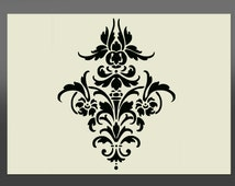 Damask Shabby Chic Stencil - Various Sizes -Made From High Quality Mylar