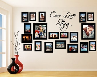 Wall decor sticker frames for pictures