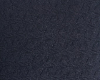 Black Jacquard Knit Stretch Fabric - Style 470